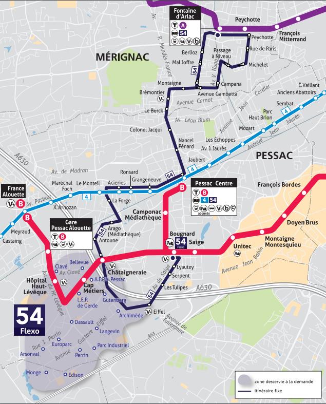 Carte Tbm Bordeaux.Timetables Bus Flexo 54 Tbm Transports Bordeaux Metropole