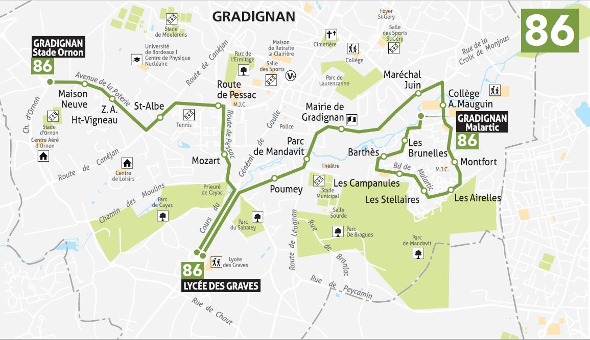 Carte Tbm Bordeaux.Timetables Bus Specifique 86 Tbm Transports Bordeaux Metropole