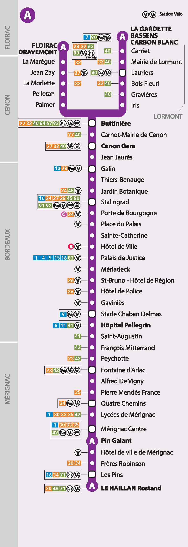 Carte Tram Bordeaux Demandeur Demploi.Horaires Tramway Tram A Tbm Transports Bordeaux Metropole